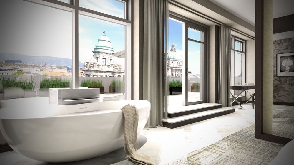 presidential-suite-ten-square-hotel-belfast-free-standing-bath-interior-cgi-francos-and-costa-architectural-visualisation-agency